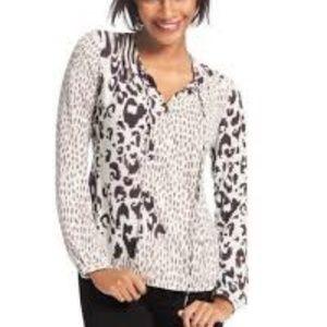 CABi animal print crossover blouse # 590 Large